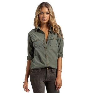 Current/Elliott The Perfect Shirt Army Green